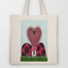 Ladybugs First Encounter Tote Bag by One Artsy Momma - $18.00
