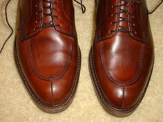 Using black shoe polish on brown shoes can give them a nice, antiqued patina.