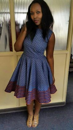 Shweshwe Dresses South Africa Styles For Woman - Pretty 4 African Dresses For Women, African Print Dresses, African Print Fashion, Africa Fashion, African Attire, African Wear, African Fashion Dresses, African Women, African Prints