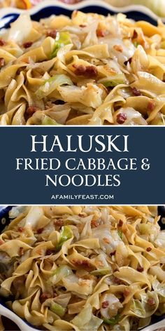 Haluski (Fried Cabbage and Noodles) - This simple, rustic dish – cabbage and onions fried in butter (I think it's best when the cabbage and onions are slightly browned and caramelized), then tossed wi Side Dish Recipes, Veggie Recipes, Pasta Recipes, Vegetarian Recipes, Cooking Recipes, Healthy Recipes, Fried Cabbage Recipes, Cabbage And Noodles With Kielbasa Recipe, Recipes Using Egg Noodles