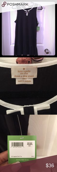 ♠️ kate spade Nightdress ♠️ Large black Kate Spade Nightdress with bow detail at the collar. New with tags, 60% cotton, 40% modal. kate spade Intimates & Sleepwear Pajamas