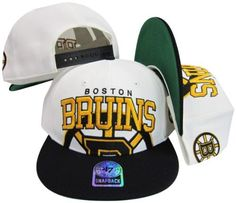 Boston Bruins Two Tone Big Logo Plastic Snapback Adjustable Plastic Snap Back Hat / Cap by Twins. $29.99. Make a fashion statement while wearing this retro snapback cap.