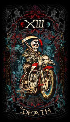 Death-Major arcana card https://www.kickstarter.com/projects/1049685103/the-psychobilly-tarot #kickstarter #tarot