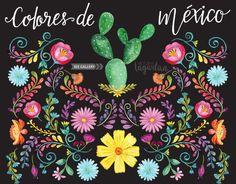 Flores de México Folklórico Artesanías típico Clip art