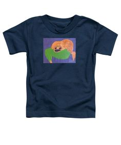 Patrick Francis Navy Blue Designer Toddler T-Shirt featuring the painting Otter 2014 by Patrick Francis