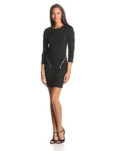 Rebecca Minkoff Women's Emmet Ponte Long Sleeve Dress with Zipper Detail, Black, 10 Rebecca Minkoff http://www.amazon.com/gp/product/B00KCMAJ66/ref=as_li_tl?ie=UTF8&camp=1789&creative=390957&creativeASIN=B00KCMAJ66&linkCode=as2&tag=monika04-20&linkId=TU2KGSTEKIEC5B5Q