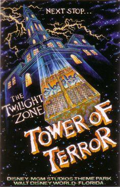 Vintage and Retro Disney Wood Art Tower of Terror gift memory MGM Studios Disneyland Vintage, Vintage Disney Posters, Vintage Cartoon, Old Disney, Disney Love, Disney Gift, Disney Theme, Arte Disney, Disney Magic