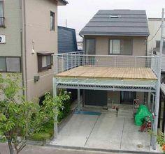Rooftop Design, Balcony Design, Dream House Plans, My Dream Home, Carport Patio, Carport Designs, Village Houses, Small House Design, Exterior Design