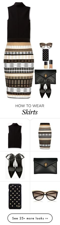 """Knitted Skirt"" by miki006 on Polyvore featuring Theory, River Island, Crabtree & Evelyn, Alexander McQueen, Alexander Wang, Diane Von Furstenberg and NARS Cosmetics"