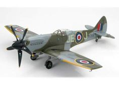 Hobbymaster 1:48 Supermarine Spitfire Diecast Model Airplane - HA7112 This Supermarine Spitfire Mk XIV MV293 as MV268 (Duxford Flying Legends Air Show 2006) Diecast Model Airplane features working propeller. It is made by Hobbymaster and is 1:48 scale (approx. 23cm / 9.1in wingspan).  General Background  Spitfire Mk XIV was the most important Griffon-engined Spitfire. It was powered by a 2,035hp Griffon 65 engine based on the Mk. VIII fuselage. Given its superior performance, the Mk.XIVs…