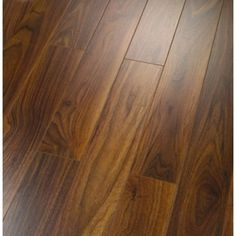 FINFLOOR STYLE 8 mm. 4V NAOMI WALNUT #floor: A timeless #classic colour of #walnut working alongside a narrow planked bevelled edged board gives this a sense of current and #stylish proving this colour is not a fad.