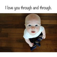I love you through and through- Book Format - make it with pictures of your child!!!!!!!