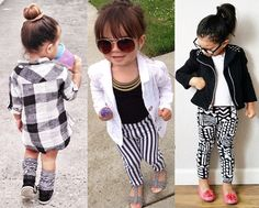 The middle outfit 😍 Fashion Kids, Little Kid Fashion, Little Girl Outfits, Cute Outfits For Kids, Baby Girl Fashion, Toddler Fashion, Cute Fashion, Little Fashionista, Stylish Kids
