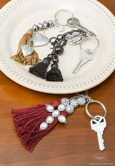 Make finding your keys easy with this free craft project made with #Wrights tassels