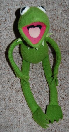 Vintage Kermit the Frog from the Muppets and Sesame Street Stuffed Toy