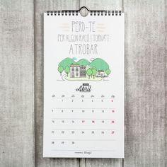 Calendari paret - 2014 Serà un any genial (cat.) El trobaràs a www.mrwonderfulshop.es #calendari #2014 #catala