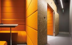 We are a global and creative design studio in Geneva, Tokyo and Beijing. Partitions, Offices, Creative Design, Architecture Design, Stairs, Orange, Interior, Table, Projects