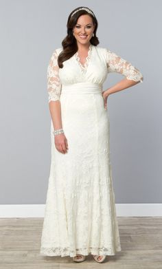 Amour Lace Wedding Gown   Plus Size Dresses   fullbeauty