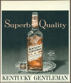 Kentucky Gentleman Bourbon 1963 Print Ad Magazine Advertisement Free Shipping | eBay