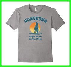 Mens Retro Dungeons Surfer T-Shirt Capetown South Africa 3XL Slate - Retro shirts (*Amazon Partner-Link)