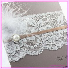 DIY lace wedding invitations~Explore more DIY wedding ideas, how to choose a wedding dress and the best honeymoon destinations on www.mrspurplerose.com #WeddingDecorations #WeddingThemes #WeddingIdeas