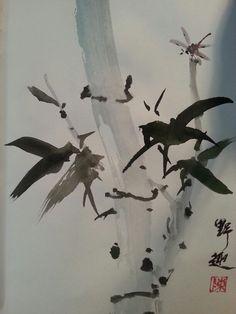 墨竹,画稿。