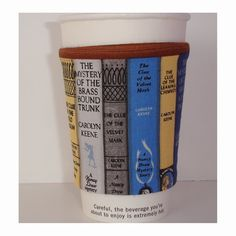 Books Cup Cozy The Nancy Drew Mysteries Book Shelf Bookshelf Mystery Tea Coffee Mug Cosy Sleeve