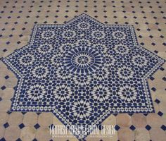 Supplier of original Moroccan tile Medallion, Moorish mosaic floor Medallion. Moroccan Lamp, Moroccan Tiles, Clay Tiles, Mosaic Tiles, Patio Flooring, Style Tile, Islamic Art, Outdoor Blanket, Quilts
