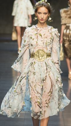 Dolce & Gabbana ss14 3D Embroidery