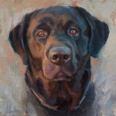 "Daily Paintworks - ""Herman"" - Original Fine Art for Sale - © Oleksii Movchun Custom Dog Portraits, Pet Portraits, Dog Artwork, Pet Memorials, Animal Paintings, Animal Pictures, Labrador, Pets, Animals"