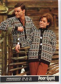 Hedmarkskofte 792 S Norwegian Knitting, Old Magazines, Knitting Patterns, Knit Crochet, Men Sweater, Sweaters, Vintage, Crocheting, Fashion