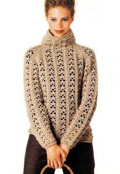 Ivelise Feito à Mão: Blusa De Frio Em Crochê