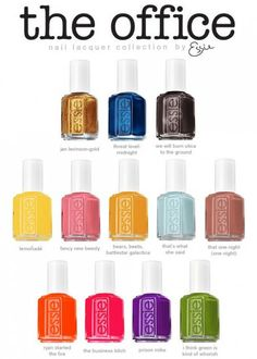 Essie The Office Collection for Fall 2012. WHAT?! Omg.