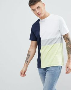 Another Influence Contrast Panel T-Shirt