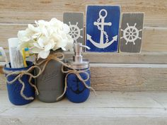 Hey, I found this really awesome Etsy listing at https://www.etsy.com/listing/268767158/anchor-decor-rustic-nautical-bathroom