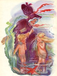 Featured book article about The Water Babies by Charles Kingsley Nostalgic Pictures, Stella Rose, Fantasy Pictures, Fairy Land, Cherub, Book Illustration, Vintage Children, Art For Kids, Children's Books