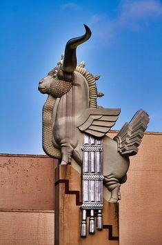 Art Deco Detail in a building in Fair Park, Dallas, Texas | #ArtDeco