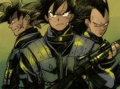 Bardock, Goku, & Raditz