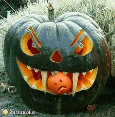 image méchante peur halloween citrouille pumpkin humour insolite