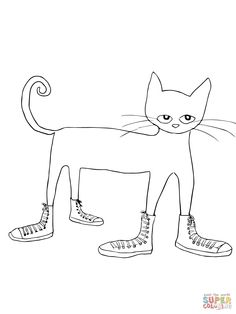 Click Pete The Cat I Love My White Shoes Coloring Page For Printable Version