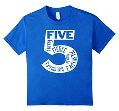 Cute Kids T Shirt For 5 Year Olds With Descriptive Adjectives Inside The Number