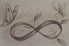 desenho de tattoo do infinito
