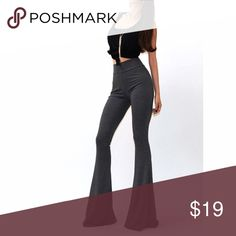 Sexy stretch palazzo pant Stretchy sexy high waist palazzo pant.  Just throw on and go.   Available in black and gray.   Sizes S/M/L. Fits true to size.    Inseam 34 in. Measured from size large. Pants Leggings