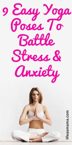A great way to combat stress and anxiety is the practice of yoga. Try these easy yoga poses to help your body release tension and to settle your mind. Combattre Le Stress, Stress And Anxiety, Physical Stress, Workout To Lose Weight Fast, Ways To Relieve Stress, Easy Yoga Poses, Yoga Posen, Improve Mental Health, Yoga Poses