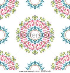 Universal different seamless vintage eastern vector patterns (tiling). Endless texture can be used for wallpaper, pattern fill, web page background, surface textures clothes. Retro geometric ornament. - stock vector