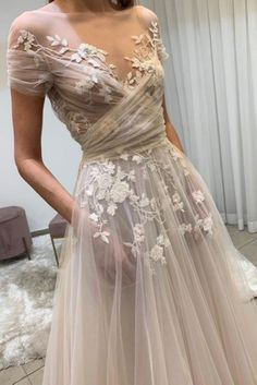 champagne tulle lace long prom dress, lace evening dress Light champagne tulle lace long prom dress, lace evening dress on Storenvy Dream Wedding Dresses, Bridal Dresses, Prom Dresses, Long Dresses, Ethereal Wedding Dress, Woodland Wedding Dress, Big Bust Wedding Dress, Formal Dresses, Casual Lace Wedding Dress