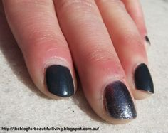 """Today I have a """"glitter"""" manicure to show you. The polish in question is CoverGirl's 'Midnight Magic'. Glitter Manicure, Covergirl, Battle, Nail Polish, Challenges, Bar, Nails, Beauty, Beautiful"""
