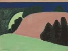 TREES IN ART • L'ARBRE DANS L'ART | Milton Avery (American, 1885-1965), Hills by the...