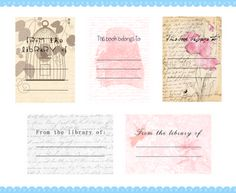Free printable bookplate! Printouts, recipes and tutorials every friday, and Etsy interviews every other Tuesday!