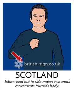 Today's #BritishSignLanguage sign is: SCOTLAND #StAndrewsDay